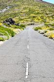 Stony Road at Volcanic Desert — Stock Photo