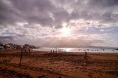 Tropical Beach near the City — Stock Photo