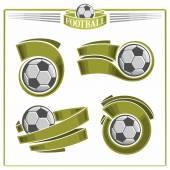 Football emblems — Stock Vector