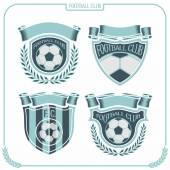 足球徽标 — 图库矢量图片