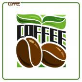 Images on coffee — Stock Vector