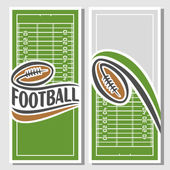 Background images for text on the subject of american football — Stock Vector