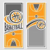 Images for text on the subject of basketball — Stock Vector