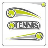 The image on the tennis theme — Stock Vector
