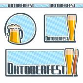 Background images for text on the theme of Oktoberfest — Stock Vector