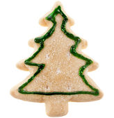 Christmas cookie fir tree — Stock Photo