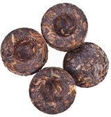 Pressed Black Tea Pu-Erh — Stock Photo