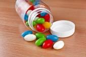Colored Pills JellyBeans — Stock Photo
