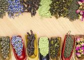 Different dry tea — Stock Photo