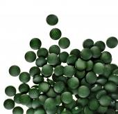 Spirulina tablets algae — Stock Photo