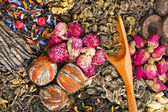 Green and black herbal tea — Stockfoto