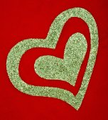 Valentine's day glitter heart — Stock Photo