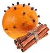 Christmas oranges with clove — Stock Photo