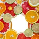 Slices citrus  isolated on white background — Stock Photo #75656173