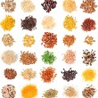 Collection Cereal Grains and Seeds — Stock Photo #75656631