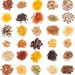 Set of Cereal Grains and Seeds Heaps — Stock Photo #75656653