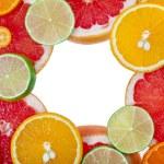 Slices citrus  isolated on white background — Stock Photo #75656711