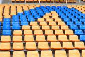 Stadium seats for sport football — Foto de Stock