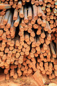 Stack of steel reinforcement rods for construction — Stock Photo