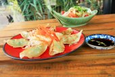 Fried Gyoza - Japanese food — Stock Photo