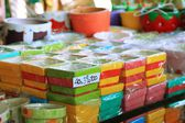 Piante in vaso colorate in vendita — Foto Stock