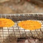 Sticky rice on grill — Stock Photo #67820473
