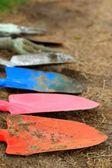 Trädgårdsarbete spadar — Stockfoto