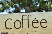 Vintage coffee signboard — Stock Photo