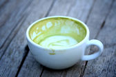 Green tea and milk — Stock Photo
