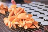 Close up of thai crispy pancake - cream crepes — Stock Photo
