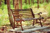 Vintage bench chair — Stock Photo