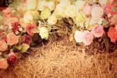 Beautiful vintage roses of artificial flowers — Fotografia Stock