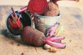 Fresh vegetables beetroot — Stock Photo