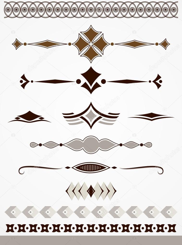 Decoraciones separadores y bordes de p gina vector de for Pagina de decoracion