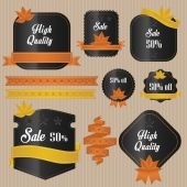 秋季销售标签 — 图库矢量图片