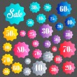 Selling badges set. — Stock Vector #77372700