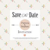 Invitación de la boda, tarjeta de anuncio — Vector de stock