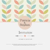 Bruiloft uitnodiging, aankondiging kaart — Stockvector