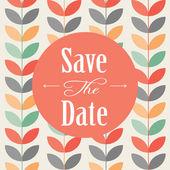 Convite de casamento, cartão do anúncio — Vetor de Stock