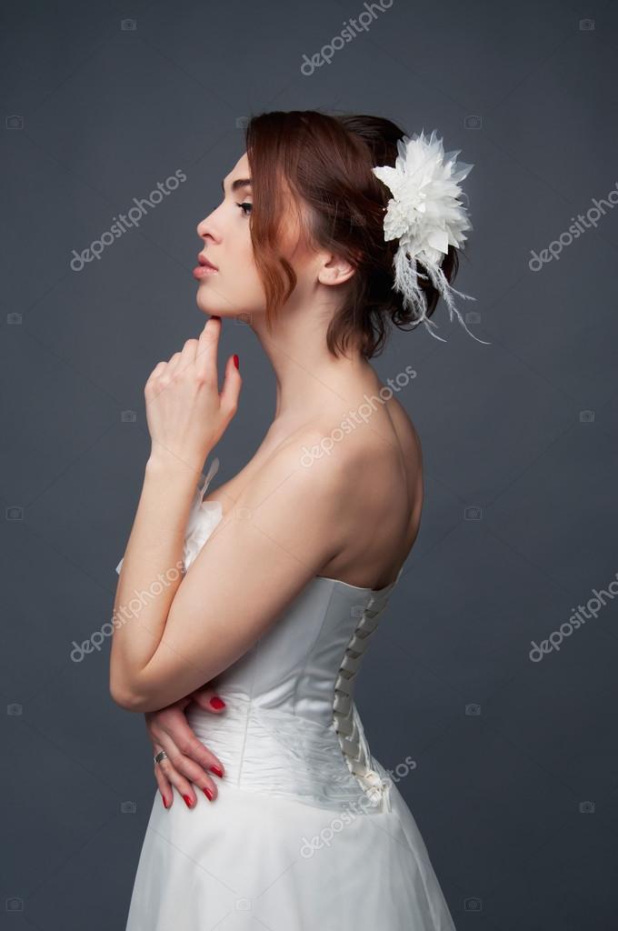 ショート ヘア 花嫁 画像