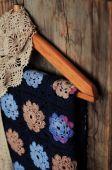 Babička náměstí květina deka — Stock fotografie