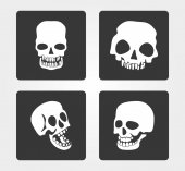 Simple web icons: skull — Stock Vector