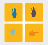 Simple Icon: hand — Stock Vector