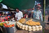 Preparing local food in fairground in Nepal — Stock Photo