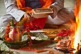 ネパールのヒンズー教のマントラを読んでブラフマン — ストック写真