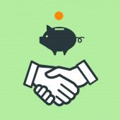 Piggy moneybox icon — Foto de Stock