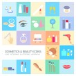 Cosmetics and beauty icons — Stock Vector #68578559
