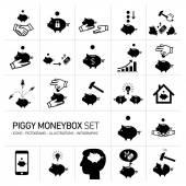 Vector piggy moneybox — Stock Vector