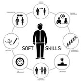 Soft skills icons — Stock Vector