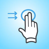 Hand gesture icon — Stock Vector